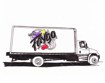 Faygo Truck, Detroit Giclee Print 8x10