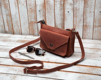 Leather Crossbody Bag, Crossbody Bag, Leather Purse, Purse, Crossbody Bags, Crossbody, Small crossbody bag, Leather Bag,  Gift for women