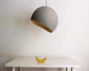 Lámpara colgante de papel maché Globe,  lámpara, papel mache, lampara de techo, lámpara de papel, lámpara industrial, gris, eco
