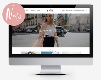 Madrid - Fully Responsive Feminine Wordpress Blog Theme for Fashion and Lifestyle Bloggers with Customisable Homepage  Magazine Layout