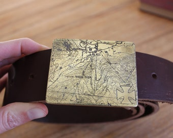 Listing for Heather: Custom Topographic Map Belt Buckle