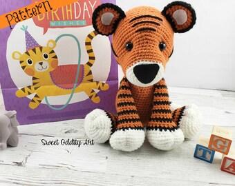 tiger crochet pattern, crochet tiger, tiger doll, tiger plush