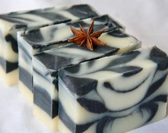 black licorice soap / natural soap / essential oil soap / handmade soap / moisturizing soap / Halifax / licorice soap / activated charcoal