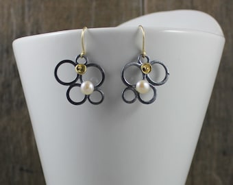 Lotus Dangle Earrings - Dark