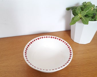 Small dish/Bowl in earthenware of Digoin and Sarreguemines France, 40/french vintage small ceramic dish from Digoin of the 40's