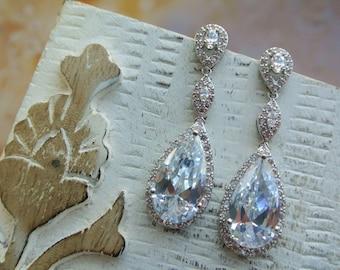SALE  Art Deco Earrings,  Bridal Earrings ,Wedding Earrings, Bridal Jewelry Dangle Earrings Crystal Teardrop Earrings Wedding Jewellery UK