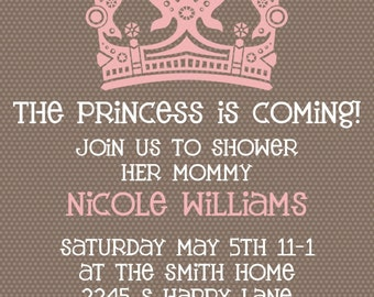 Baby Girl Shower invitation -- Princess is Coming