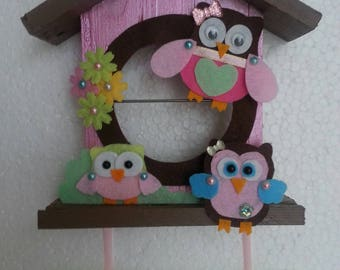 Pink and Brown owls nest