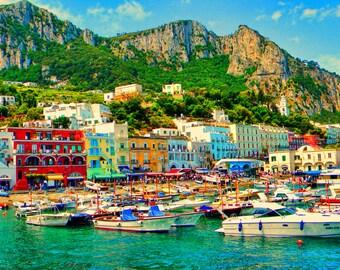 Capri italy photo, Italy photo, Boat photos, waterfront photos, Fine art photo, Wall Art, Travel photo,