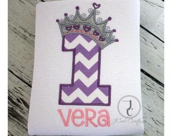 Girls Birthday Shirt - Girl Birthday Outfit, Princess Birthday Shirt, Princess Shirt, Crown Birthday Shirt, Tiara Birthday, Glitter Crown