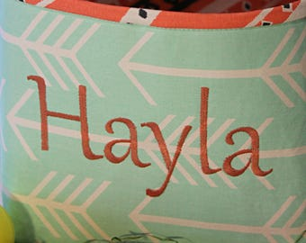 Easter Basket--Personalized Easter Basket--- Easter Basket--- Lots of Fabrics to choose from