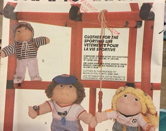"Cabbage Patch - 6 vintage patterns 2002, 9582, 2134,2135, 733, 7116 - clothing for 16"" & 18"" soft sculptured doll - uncut"