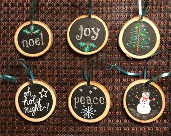 6 holiday ornaments