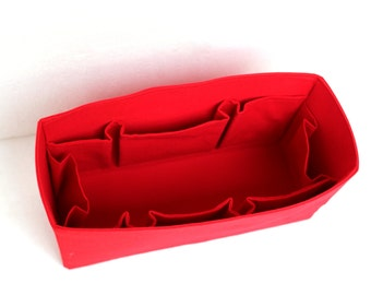 Extra Large Purse organizer for Louis Vuitton Neverfull GM - Bag organizer insert in Rich Red