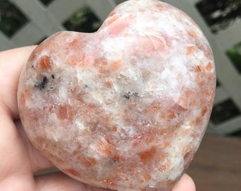 2.5 Inch Sunstone Heart