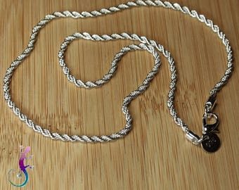 Twisted A412 41cm silver plated chain necklace