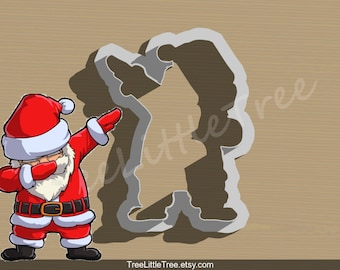 Dabbing Santa Claus Cookie Cutter. Christmas Cookie Cutter. 3D Printed. Baking Gifts. Custom Cookies.