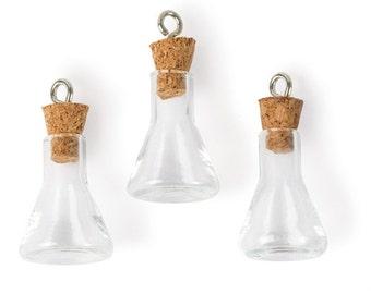 Steampunk Erlenmeyer Flask Charms (STEAM249)