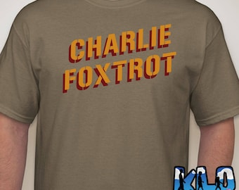 CHARLIE FOXTROT T-Shirt Funny Military Marine Army navy Air Force Coast Guard Public Service America Proud Cluster F__K