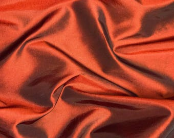 Custom for Shannon Marz - UK Size 18 Russet Red Taffeta Sweetheart Evening Dress - by Dig For Victory