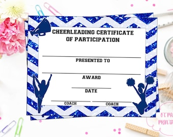 cheerleading certificate cheerleading award cheerleading diy cheerleading printable cheerleading achievement end