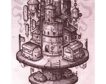 A Tiny City 8x10 Print