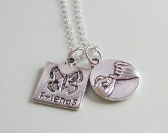 Pinky Promise Pinky Swear Butterfly Friend Necklace