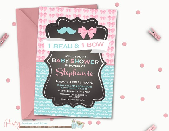 Twins baby shower invitation boygirl baby shower invitation filmwisefo Image collections