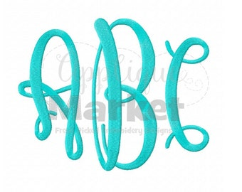 Machine Embroidery Design Embroidery Graceful Jumbo Monogram Alphabet Font INSTANT DOWNLOAD