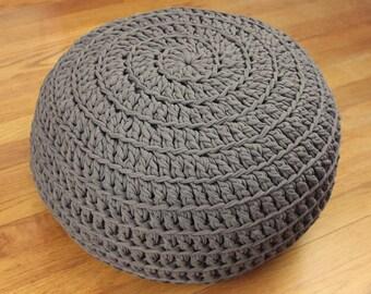 Crochet Pattern - Poof! Floor Pillow Ottoman - PDF