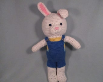 Schoolyard Kids: Rascal the Rabbit cuddly large crochet plushie doll
