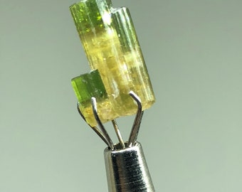 Green-cap Tourmaline Crystal with side-car