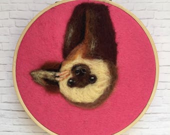 Needle felted sloth