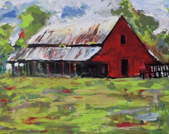 Old red barn SOLD