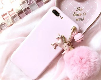 Handmade Pink Unicorn soft Case For iPhone 6/6s iPhone 6plus , iPhone 7 , and iPhone 7plus, iPhone 8, iPhone 8 Plus , iPhone X