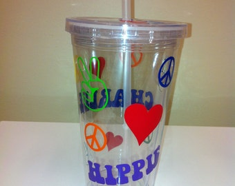 Personalized Tumbler Peace