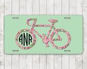 Items Similar To Monogrammed Bicycle Car Tag Cycling