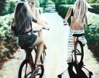 Lazy Hazy Summer - giclée limited edition from original oil painting by Adrienne Egger