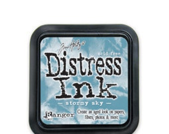 Tim Holtz Distress Ink Pad-Stormy Sky