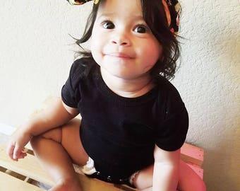 Taco Head Wrap- Taco Headband; Taco Bow; Taco Headwrap; Head Wrap; Big Bow Head Wrap; Toddler Headband; Baby Headband; Taco Hair Bow