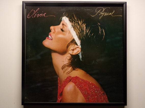 Glittered Record Album - Olivia Newton John - Physical