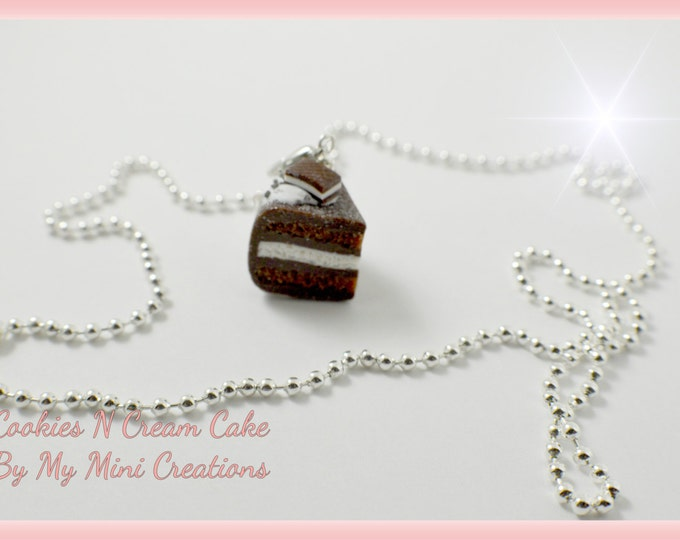 Cookies N Cream Charm Necklace , Miniature food jewelry,  Miniature food,