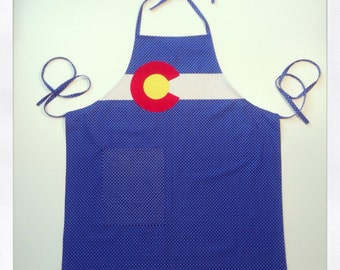 Colorado flag apron Hand made for cook in the kitchen or barbeque BBQ