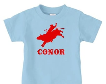 Bull Rider t-shirt, Personalized Rodeo t shirt