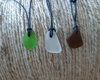 Simple Adjustable Authentic Beachglass Necklaces
