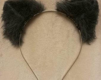 Slate Grey 2D Flat Adjustable Cat/Kitten Ears