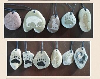 Handmade rock necklace
