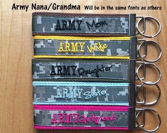 Army Nana Key Fob - Army Grandma - Army Nana Keychain - Army Nana Wristlet