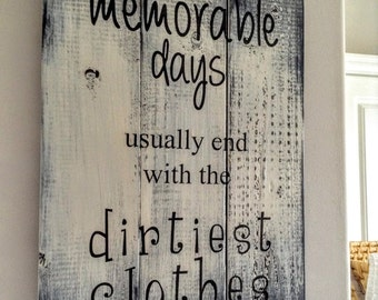 Laundry Sign, Laundry Room Decor, Laundry Room Sign, Laundry Room Art, Memorable Days Sign, Housewarming Gift