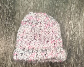 Pink Knit Hat - Baby size